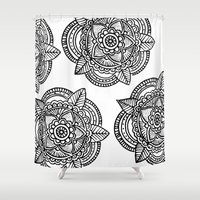 doodle Shower Curtains featuring DOODLE  by Aysha AlShamsi
