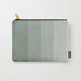 Sage green Verticals Carry-All Pouch