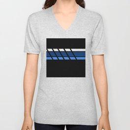 Team Colors 4 ..Aqua ,blue Unisex V-Neck
