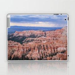 Sunset over Hoodoos - Bryce Canyon National Park, Rocky Natural Landscape, Utah Hiking Photography Laptop & iPad Skin