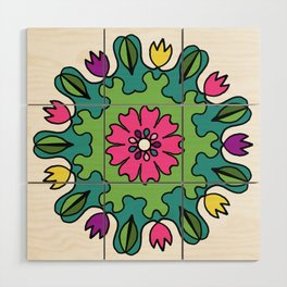 Tulip Delights Mandala Wood Wall Art