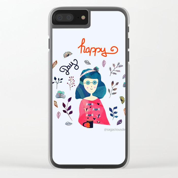 Happy Day Clear iPhone Case
