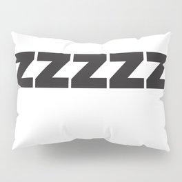 ZZZZZZ Black on White Pillow Sham