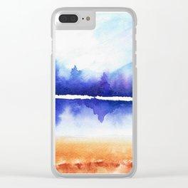 Purple Naturescape Clear iPhone Case