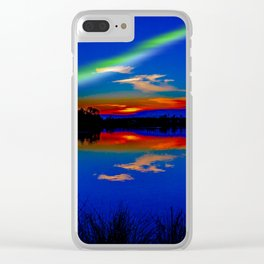 North light over a lake Clear iPhone Case