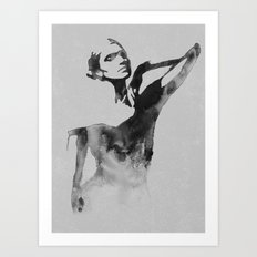 Figurine (Ink Painting) Art Print