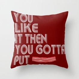 Single Bacon Throw Pillow