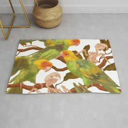 The extinction of the Carolina Parakeet. Rug
