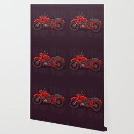 red vintage motorcycle Wallpaper