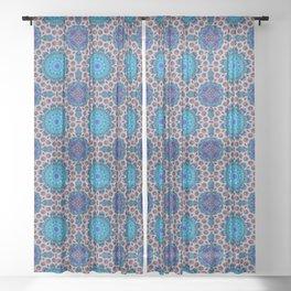 Ficin - Flower mandalas F of Alphabet collection Sheer Curtain