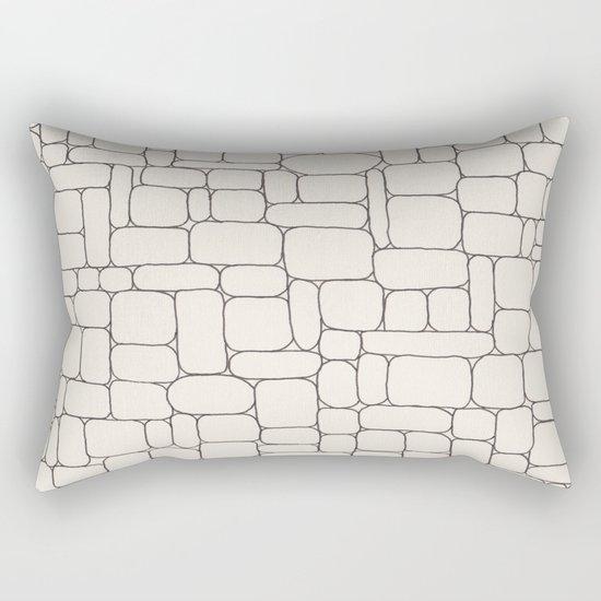 Stone Wall Drawing #3 Rectangular Pillow