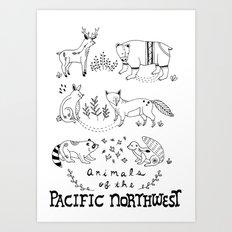 Animals of the Pacific Northwest Art Print