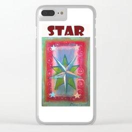 Star por Diego Manuel Clear iPhone Case