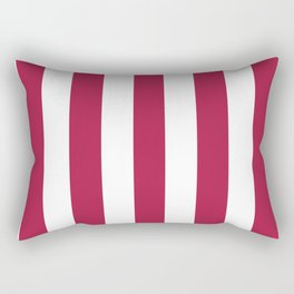 French wine fuchsia -  solid color - white vertical lines pattern Rectangular Pillow