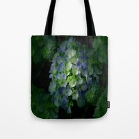 hydrangea Tote Bags featuring Hydrangea by Sartoris ART