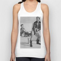 it crowd Tank Tops featuring Levis Crowd by vooduude