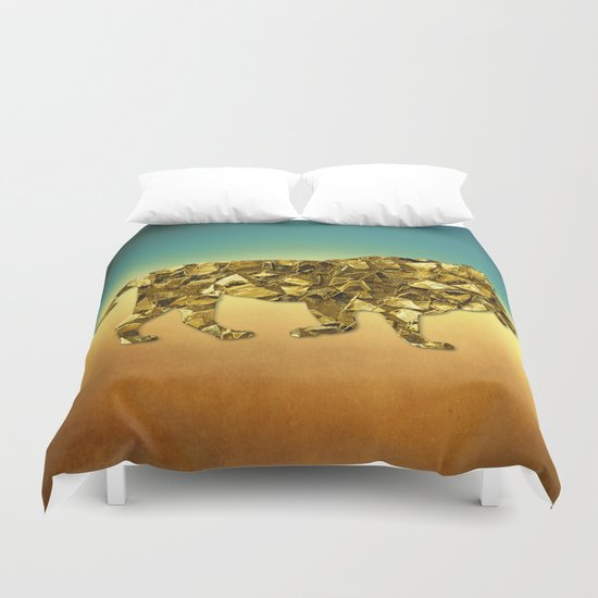 Animal Mosaic - The Lion Duvet Cover
