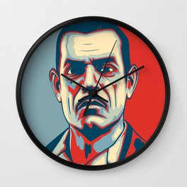 "Andrew Ryan ""Hope"" Poster (clean) Wall Clock"