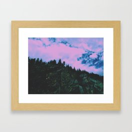 Candy Cliffs Framed Art Print