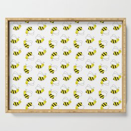 Bumble Bee Pattern Serving Tray