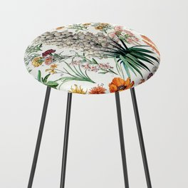 Adolphe Millot - Fleurs B - French vintage poster Counter Stool