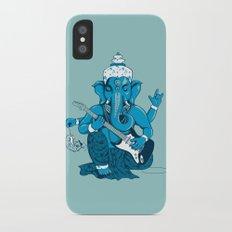 Ganesha rocks ! (v3) iPhone X Slim Case
