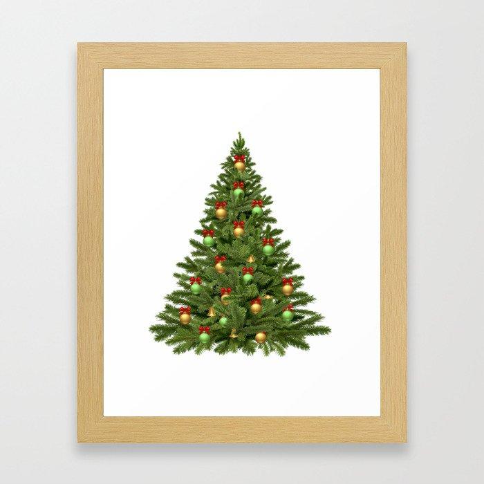 Christmas tree #society6 #decor #buyart Framed Art Print
