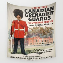 Vintage poster - Canadian Grenadier Guards Wall Tapestry