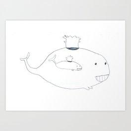 Baleineau Art Print