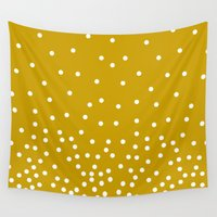 polka dots Wall Tapestries featuring Polka-dots by rogers.emilyann