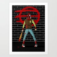 hotline miami Art Prints featuring Hotline Miami by 100rings