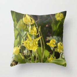 Glacier Lily Painterly Throw Pillow