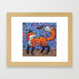 Fantasy Forest Fox Framed Art Print