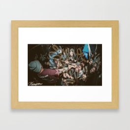 SURGE OF FURY (with watermark) Framed Art Print