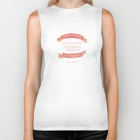 pocketfuel Biker Tanks featuring Prov 31:30 A woman to be greatly praised by Pocket Fuel
