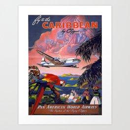 Vintage poster - Caribbean Art Print