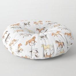 Horses Floor Pillow