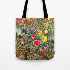 Birds Insects Plants Tote Bag