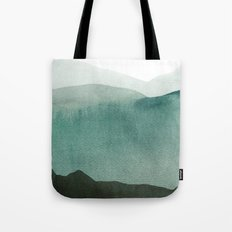 Valley's deep and the mountains so high Tote Bag