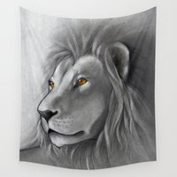 the lion king Wall Tapestries featuring The Lion King by Puddingshades