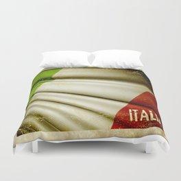 Grunge sticker of Italy flag Duvet Cover