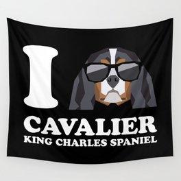 I Love Cavalier King Charles Spaniel modern v2 Wall Tapestry