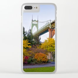 St. Johns Bridge Clear iPhone Case