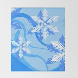 The Flower Abstract Holiday Throw Blanket