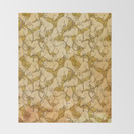 A world of rats Throw Blanket