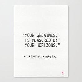 Michelangelo quote 5 Canvas Print