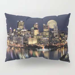 Moon Rise Over Pittsburgh Pillow Sham