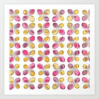 flower pattern Art Prints featuring flower pattern by VessDSign