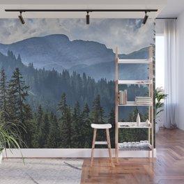 Into the woods.  Lauterbrunnen Valley. Alps. Switzerland Wall Mural