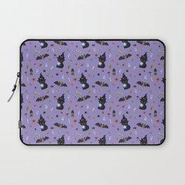 The Halloween Witch Kitten Laptop Sleeve